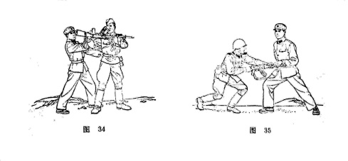Chinese military martial arts manual, 1974. Note the enemy is a Russian soldier