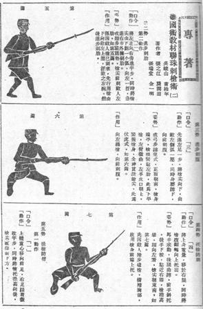 Guoshu Magazine Issue with Chinese Bayonet Techniques 1930s