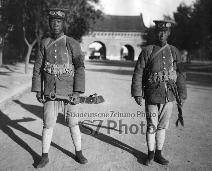 Soldaten von Feng Yuxiang in Peking, 1928