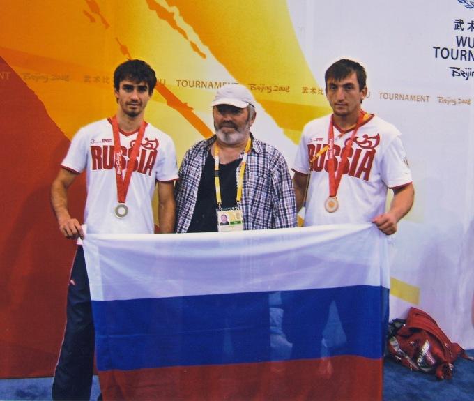 Шандулаев Назир, Магомаев Гусен Сайгидович и Салихов Муслим. Пекин 2008. Олимпийский турнир.